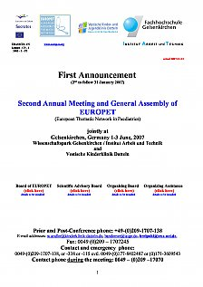 First Announcement Second  Annual  Meeting and  General Assembly of EUROPET