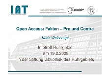 Picture from Open Access: Fakten - Pro und Kontra