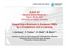 Abbildung Presentation 'Supporting e-Business in European SMEs by e-Competence and e-Learning